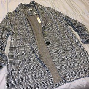 Striped printed blazer